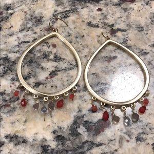 Fossil gold gem earrings 💎